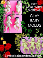 Baby molds, Polymer clay baby mold,  Doll, Premo doll, Thumbelina, free worldwide shipping (1)